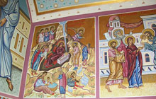 "New frescoes in ""The Assumption"" temple (55m<sup>2</sup>)"